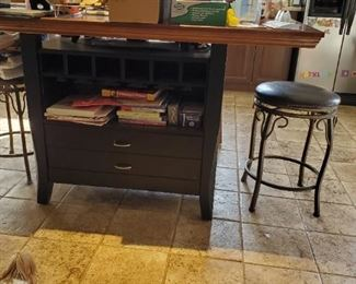 Double Kitchen Island 2 Stools with Back 2 Stools $350