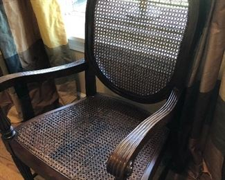 wonderful chair with caning seat and back