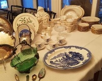 Beautiful Lenox dishes eternal, Lenox cookie jar Lenox Christmas charger Picard Christmas plates silver plate plus more