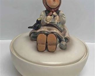 Happy Pastimes Hummel Candy Dish jpg