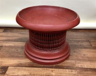 Antique Burmese Wood Red Lacquer offering Table