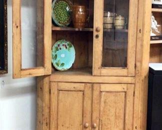 Antique Pine corner cabinet