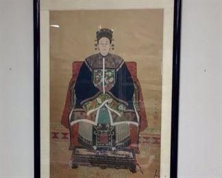 34 x 57 handpainted Asian Scroll