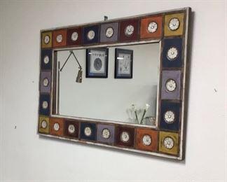 "32 x 48 1/4 Pier One mirror ""multi color patchwork"""
