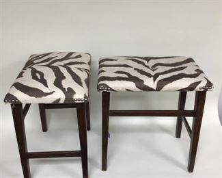 Zebra Fabric Stools