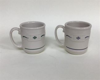 Two Lonaberger Coffee Mugs