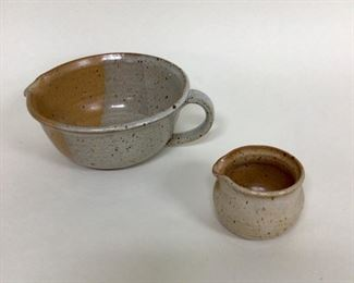 Pottery mixing bowl and egg separator