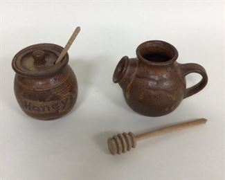 Pottery, Two Honey Pots