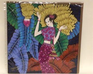"Art American-Chinese artist Ting Shao Kuang,  26""x27 1/4"""