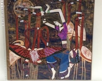 """""""The Dancer"""" by American-Chinese artist Ting Shao Kuang,  26""""x27 1/4"""""""