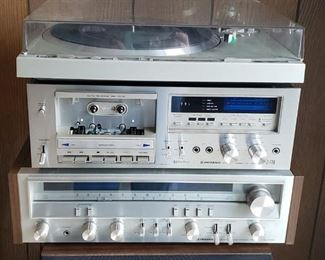 Pioneer Stereo System (2 speakers)  ***Turntable and Receiver have sold***
