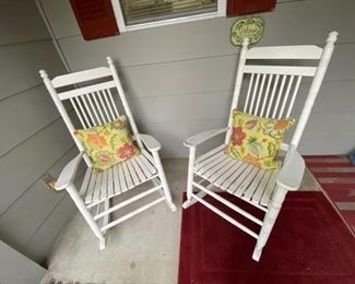 Adorable front porch rocking chairs!