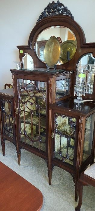 """Victorian Wine and Cake Cabinet 17 1/2"""" Deep, 57"""" wide"""