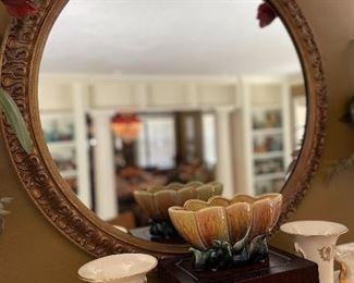 Gorgeous large round mirror