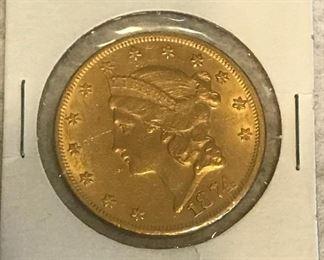 $20 Gold Coin (1874)