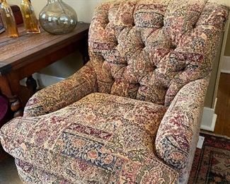 Pair of these tufted back club chairs