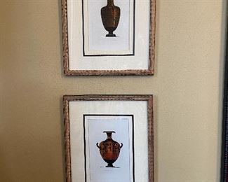 Pair of urn prints.