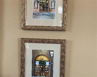 Pair of framed prints.