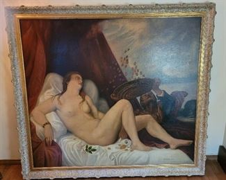 Very large copy of a Titian painting, circa 19th century
