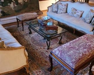 Pair of matching French style sofas!