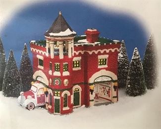 Dept. 56 Snow Village - Fire Station # 3 and more!