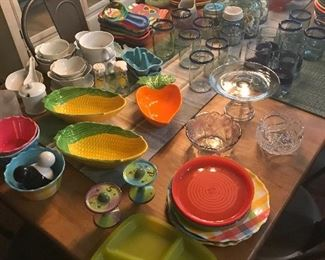 If you need anything for your kitchen, we have it!!  Lots of small appliances, casual to formal glassware, lots of fun party pieces, bar ware, dishes, Christmas China, coffee mugs, a collection of Starbucks mugs, lots of nice water bottles, silverware, knifes, kitchen tools, gadgets and more!! Nice kitchen section!! New and old Fiesta ware.