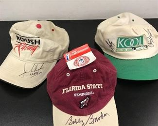 FSU signed cap sold today but we have a signed football, golf ball, and signed NASCAR items.  Harley Davidson items as well.