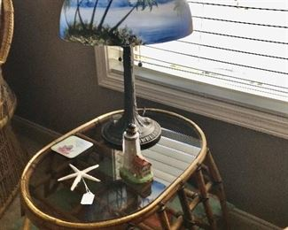 The unique lamp sold today, but the table is still available but won't last long....