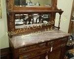 Walnut sideboard with marble top