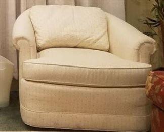Off white chair (with hidden wheels underneath) ~ $75