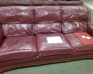 Hancock & Moore top quality leather sofa ~ $325