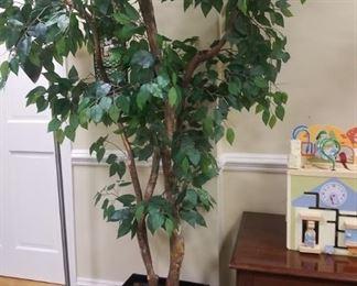 Faux ficus tree ~ $65  <Location: Ridgewood, NJ>