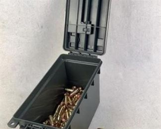 Mfg - (250) .45 ACP 230gr Model - Full Metal Jacket Ammo Located in Chattanooga, TN Condition - 1 - New This is a 250 count box of 230 grain .45 ACP FMJ ammunition, ideal for range use/target practice. Comes in reusable polymer ammo can.