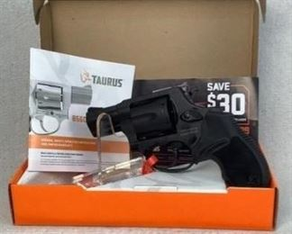 """Serial - ABN371796 Mfg - Taurus Model - 856 Caliber - 38 Special+P Barrel - 3"""" Capacity - 6 Type - Revolver, Double Action Located in Chattanooga, TN Condition - 1 - New In this lot we have the Taurus 856 in a nice matte black finish. This firearm is well made and light enough to sport in a concealed holster or even in your pocket. Being a smaller pistol Taurus compensated for the expected muzzle flip by giving users comfortable rubber grips that will help with recoil."""