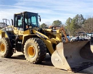 Located in: Ringgold, Georgia MFG Komatsu Model WA380-7 Ser# A64399 Wheel Loader PIN - kMTWA118V36A64399 Hours - 2,845 Motor Spec- MFR - Komatsu Model - SAA5D107E-2 Diesel 9' Wide Bucket, 4 Yard Back Up Camera Runs and Operates