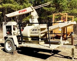 Located in: Ringgold, Georgia MFG FINN Model B70 T-38 Ser# SB-3817 Straw Blower VIN - 1F9BS141X8F135817 Hours - 183 Motor Spec- MFR - Komatsu Type - V1505-EU33 Diesel Power Take-Off Size - 5 Clutch - 6.5S Pintol hitch Runs and Operates