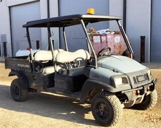 Located in: Ringgold, Georgia Yr 2017 MFG ClubCar Model Carryall 1700 Ser# SD1709-806413 4 Seater UTV 4x4 Hours - 1,908 Motor Spec- MFR - Kubota Model - D722 Manual Dump Bed Runs and Drives