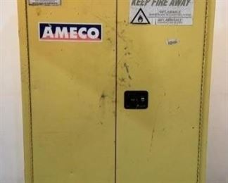 """Located in: Chattanooga, TN MFG Eagle Model YPI-47 Flammable Liquid Storage Cabinet Size (WDH) 43""""W x 18""""D x 66""""H  **Sold as is Where is**  SKU: L-5-C"""