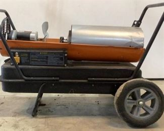 Located in: Chattanooga, TN MFG Dayton Model 3VE50D Power (V-A-W-P) V-120, Hz - 60, A - 2.5, Single Phase Forced Air Blower Multi - Fuel 125K BTU Fuel Tank Capacity - 10 Gallon *Sold As Is Where Is*  SKU: K-10-B Unable to Test