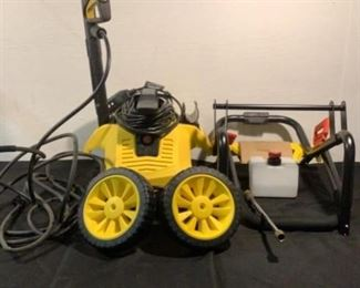 """Located in: Chattanooga, TN Condition """"Return"""" MFG Stanley Ser# 14347-08172788 Power (V-A-W-P) 120V - 60Hz - 13A High Pressure Washer 2050 Max psi **Sold as is Where is**  SKU: E-1-C"""