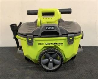 """Located in: Chattanooga, TN Condition """"Return"""" MFG Ryobi Model P770ID Ser# LV20273D072095 Power (V-A-W-P) 18V Cordless Wet/Dry Vac Missing Hose Battery & Charger Not Included *Sold As Is Where Is*  SKU: L-4-A Tested-Works"""