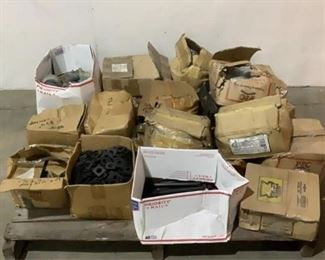 Located in: Chattanooga, TN Assorted Hardware Assorted Bolts, Pipe Fittings, and Washers **Sold As Is Where Is**  SKU: J-1-B