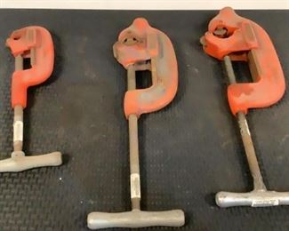 """Located in: Chattanooga, TN MFG Ridgid Pipe Cutters (1) 1/8 -2"""" (1) 1 - 3"""" (1) 2 - 4"""" *Sold As Is Where Is*  SKU: G-5-B"""
