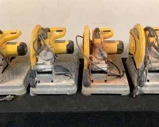 """Located in: Chattanooga, TN MFG DeWalt Model D28715 Power (V-A-W-P) 120 Volts, 15 Amps, 50/60 Hz Non-Working 14"""" Chop Saws **All Saws have Been Tested and are BAD/Non-Working** *Sold As Is Where Is*  SKU: L-5-C Tested Non-Working"""