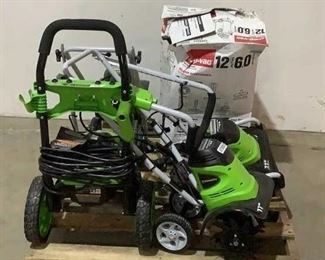 """Located in: Chattanooga, TN Condition """"Return"""" Assorted Outdoor Power Tools & Equipment *NOTICE* before placing your bids, these items are one of the following: Returned Item, Discontinued and/or Damaged Product. It is possible that items could be missing parts/pieces. Compass Auctions & Real Estate LLC is not responsible for any damaged or missing items so please inspect before bidding. Thank you, Team Compass. **Sold as is Where is**  SKU: C-4-B Does Not Work"""