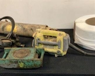 """Located in: Chattanooga, TN Assorted Job Completion Supplies (1) Machinery Mover **Missing Top Part** (1) Wacker Neuson Vibrator Motor **Does NOT Work** (1) Hydraulic Hand Pump **Working Condition Unknown** (4) 24"""" x 1-1/4"""" Metal Springs (1) Spool of 1/2"""" Plastic Banding Material **Sold as is where is**  SKU: I-2-C"""