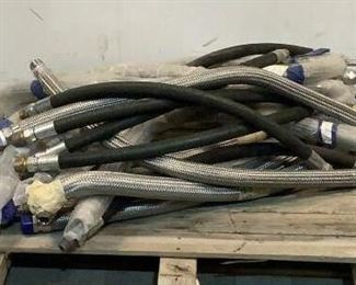 """Located in: Chattanooga, TN Assorted SS Flexible Exhaust Hose MFR's - Hypress, Swagelok Sizes Range From - 1/2"""" to 1-1/2"""" Lengths Range From - 40"""" to 50"""" **Sold as is Where is**  SKU: F-6-D"""