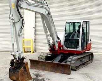 "Located in: Chattanooga, TN Yr 2017 MFG Takeuchi Model TB290 Ser# 185103502 Excavator Hours - 54.9 Bucket Width - 22""W Grader Blade Width - 8'W Track Width - 17-1/2"" Max Reach - 18' Max Lifting Cap - 13,753 lbs Motor spec- MFR - Yanmar Model - 4TNV98CT-WTB Engine number - 36971 Displacement- 3.318 Diesel Max Machine Mass - 96,000 kg AC Works Dry Rot on Treads *Sold As Is Where Is* Runs and Operates"
