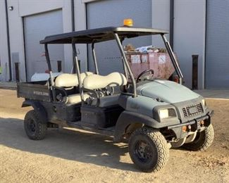 Located in: Ringgold, Georgia Yr 2017 MFG ClubCar Model Carryall 1700 Diesel Ser# SD1709-806413 4 Seater UTV 4x4 Hours - 1,908 Motor Spec- MFR - Kubota Model - D722 Manual Dump Bed **Sold as is Where is** Runs and Drives