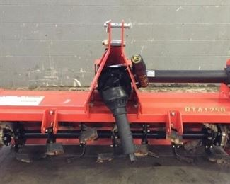 """Located in: Tullahoma, TN MFG Land Pride Model RTA1258 Rotary Tiller Recommended Tractor HP: 15-40 Hp Weight: 448 lbs Width From End Plates: 58in Overall Width: 63in 3-Point Hitch Type: Category 1, Adjustable Lower Hitch Clevis w/ Plated Pins Fits Land Pride Quick Hitch Sideshift Capabilities: Up to 7in (Must be centered if using quick hitch) Sideshift Centered: 29in Sideshift Right: 22-36in Sideshift Left: 36-22in Number of Flanges: 7 Number of Tines per Flanges: 4 Tine Construction: Alloy Heat Treated """"C"""" Shaped Blades Rotor Rotation: Forward Rotation Rotor Swing Diameter: 15in Rotor Shaft Speed: 211 rpm @ 540 rpm power take-off Rotor Bearing Mounts: Machined Cast Iron Skid Shoes: Adjustable Storage Stands: Adjustable Rear Tailgate: Adjustable Rear Tailgate **Sold as is Where is**  CCR14617 Runs and Operates"""